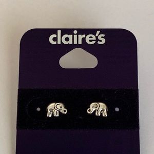 Claire's sterling silver elephant earrings! 🐘